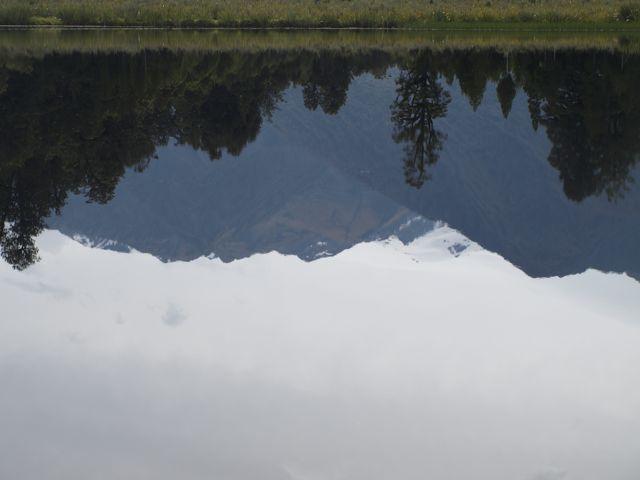 Spiegelsee Lake Matheson bei den Gletschern