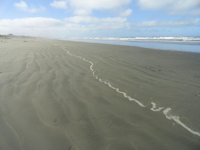 Der Strand von South Beach, nur 500m vom Campingplatz entfernt