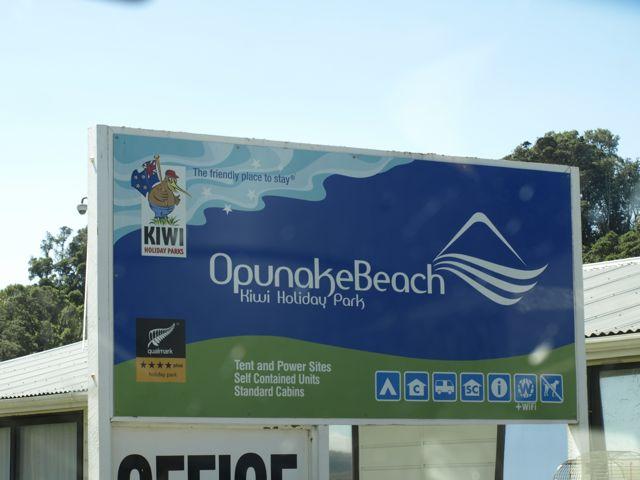 Angekommen am Opunake Beach Camp