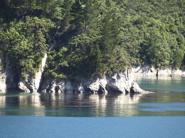 im Marlborough Sound, auf der Fähre von Wellington (Nordinsel)  nach Picton (Südinsel)