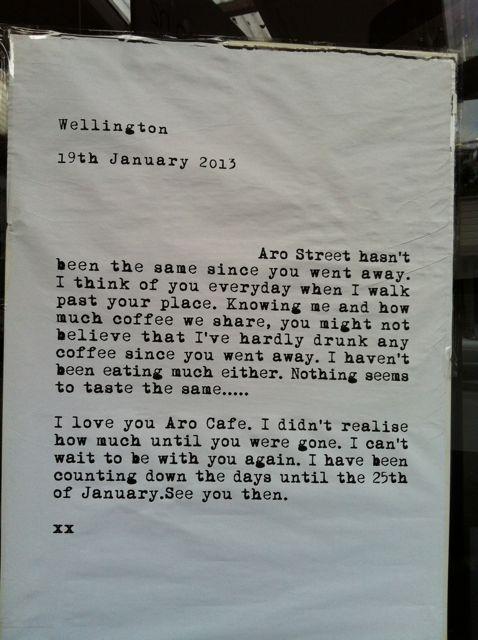 Liebesbrief an das Aro Cafe IMG_5112